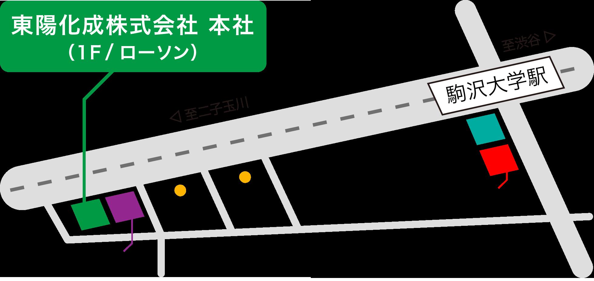 東陽化成株式会社地図